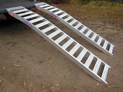 1 tonne Capacity Mower Loading Ramps Curved 2.3 metres long x 390mm wide