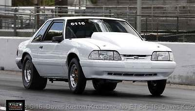 1989 Ford Mustang LX 89 Turbo Mustang Pro Street Grudge / Drag Race Car PTE BB Turbocharged 377 CID