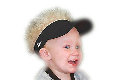 FlairHair Baby Black Visor with Blonde Hair