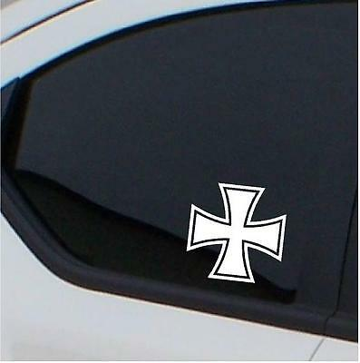 2 x Iron Cross car stickers car decal