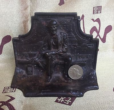 Cast Iron - Book End / Door Stop - Abraham Lincoln