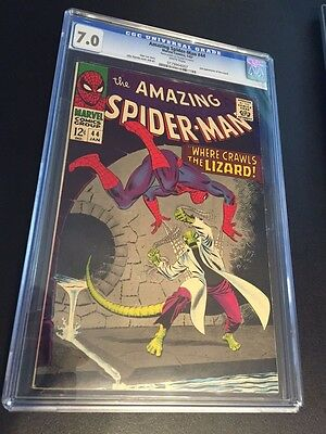 Amazing Spider-Man #44 CGC 7.0 VF- WHITE PAGES Beautiful copy !