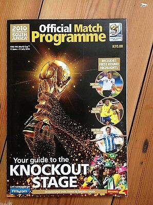 World Cup 2010 Official Match Programme | Knockout Stage
