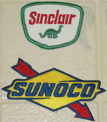 """2"" New Old Stock Different Gas/oil Embroidered Patches--""sinclair""--""sunoco""!!"
