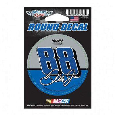 Dale Earnhardt Jr Round Decal