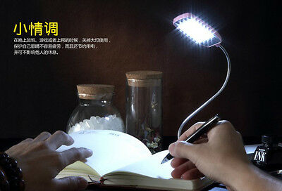 Flexible USB 28 LED Mini Lamp Light For Laptop Notebook Computer Reading Bright