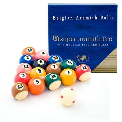 New SUPER ARAMITH PRO-CUP TV Pool Balls with free shipping - Made in Belgium