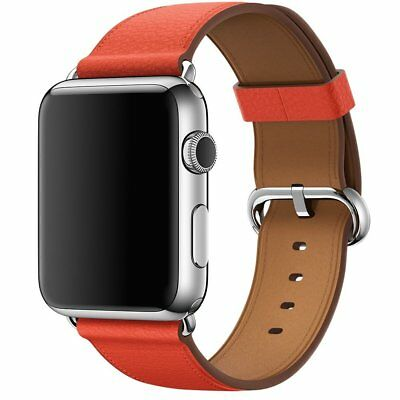 Genuine APPLE MMAN2ZM/A 42mm Classic Leather Buckle - Watch strap - red -
