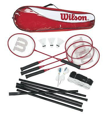 Wilson Tour 4 Player Family Badminton Set with Net, Posts and Shuttles