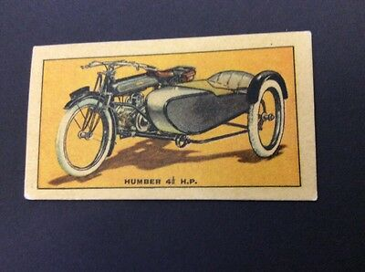 Motor Cycles Humber 41/2 H.p. With Sidecar By D C Thomson In Wizard Comic 1930