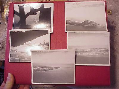 Original Wwii Lot Of 5 Aerial Photos Of Iwo Jima - 1945