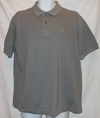 Lac7751 Lacoste Gray S/s Signature Cotton Mesh Golf/polo Shirt