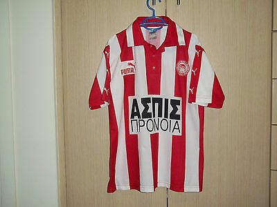 Olympiakos 1998-1999 home shirt/jersey-Large Adults