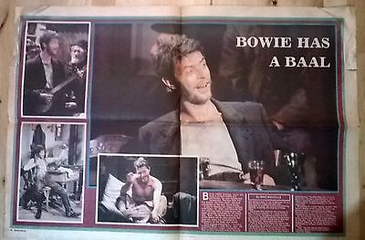 5 David Bowie news article clippings from Bertolt Brecht's Play Baal 1982