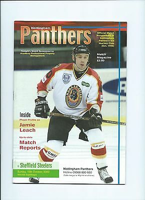 00/01 Nottingham Panthers v Sheffield Steelers  Oct 15th