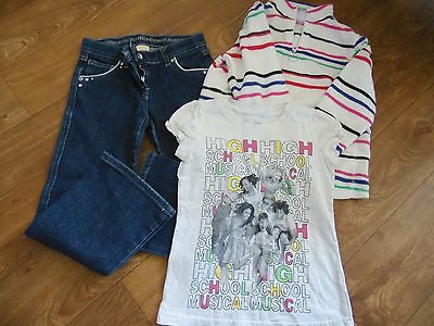Girls age 5-6 years Jeans top and fleece. High School Musical