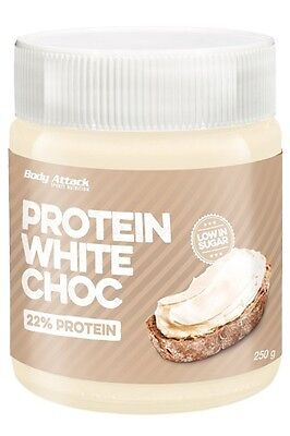 Body Attack Protein White Choc Spread 250 g, Low Carb, No Sugar Added
