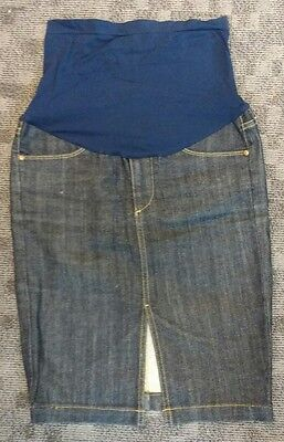 AG Adriano Goldschmied Maternity Denim/Jean Skirt size 28 A Pea in the Pod