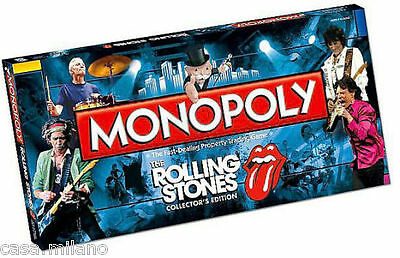 Monopoly THE Rolling Stones Collector's Edition Board Game NEW