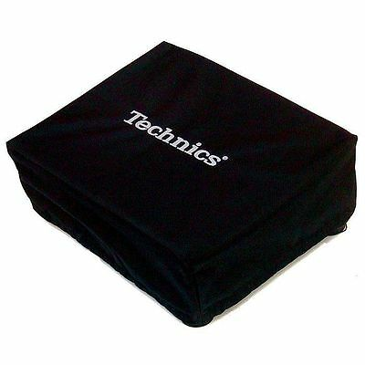 Technics Universal Turntable Dust Cover (black with silver embroidery)