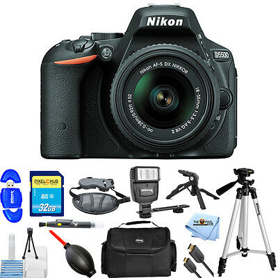 Nikon D5500 DX-format Digital SLR W/ 18-55mm VR II Kit (Black)!! PRO BUNDLE NEW!