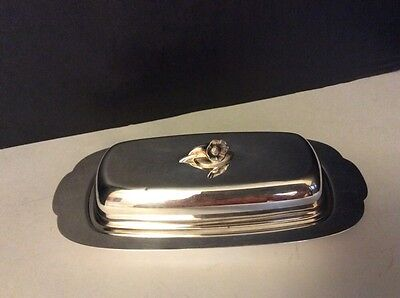 Oneida Silversmiths – Vintage Silver-Plated Butter Dish