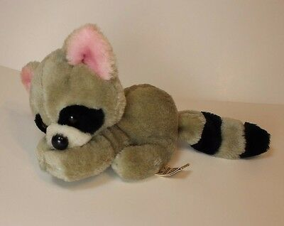 Vintage Applause Plush Raccoon 1981 Item 7795 Adrian Cute Stuffed Animal