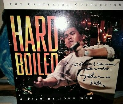 Hard Boiled Special Ed.Laserdisc Criterion Collection signed by John Woo!!