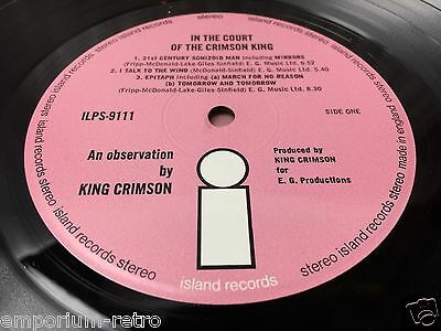 king crimson in the court of the crimson king vinyl record pink island nr mint