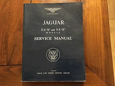Jaguar Service Manual 3.4 3.8 S Type