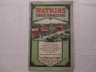 1920's Issue Of Watkins Timely Suggestions