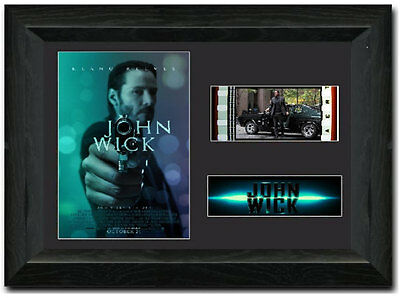 John Wick 35 mm Framed Film Cell Display Stunning Collectible Keanu Reeves
