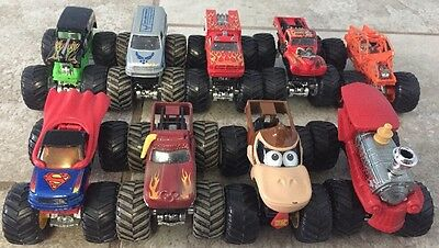 Lot of 9 Hot Wheels Monster Jam 1:64 Die Cast Monster Truck Collectibles/Collect