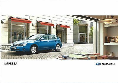 Subaru Impreza UK Market Brochure Circa 2008 Includes 1.5R 2.0R 2.0RX 38 Pages
