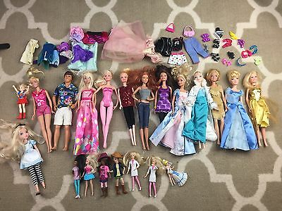 Barbie Lot Dolls With Hawaii Toy Story Ken And Barbie Set And Extras