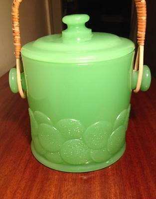 Fenton Jade glass  #1681  Big Cookies Macaroon Jar