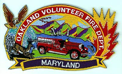 OVFD Oakland Volunteer Fire Department Uniform Patch Maryland MD