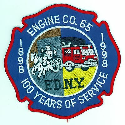 FDNY Engine Co. 65 100 Years of Service 1898-1998 Patch New York Fire Department