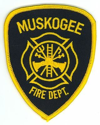 MFD City of Muskogee Fire Department Uniform Patch Oklahoma OK