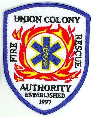 UCFD Union Colony Fire Rescue Authority Department Uniform Patch Colorado CO