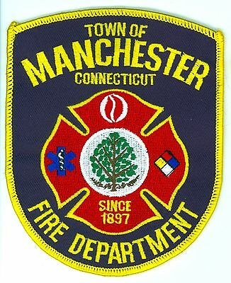 MFD Town of Manchester Fire Department Uniform Patch Connecticut CT