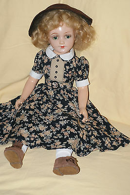 "Pretty Rare 21"" Blonde Bend Leg Debu'teen Composition Doll With Cloth Body"
