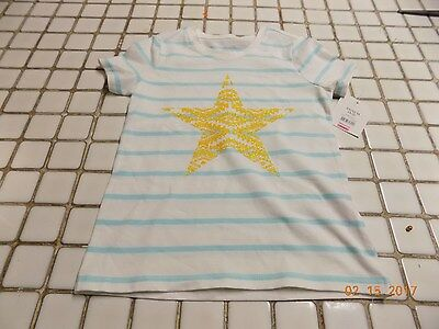 NWT Faded Glory Girls Short Sleeve Top Shirt Size 4-5