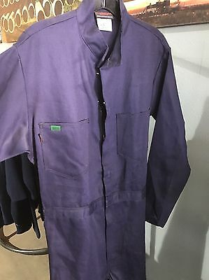 New Small Tall Workrite Navy Flame Resistant Coveralls Size 38L