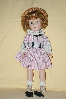 "Vintage 14"" Sweet Sue Hard Plastic Doll Original Dress, Panties And Shoes"