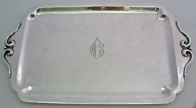 "Arts & Crafts Cellini Craft Handwrought Sterling 12"" X 7"" Dresser Tray C. 1940"