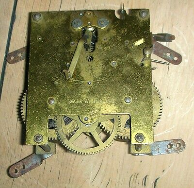 Vintage Antique Clock Movement. Made in England