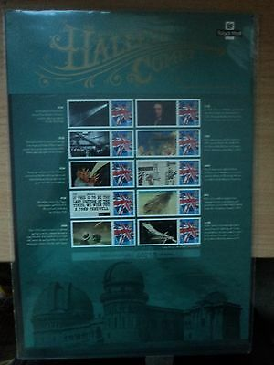 GB 2010 Post Office Commemorative Sheet Centenary of 1910 Halley's Comet
