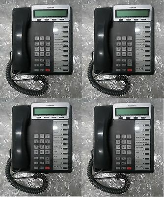 - Lot of 4 TOSHIBA DKT3210R-SD Digital Business Multi Line 10 Button PHONE