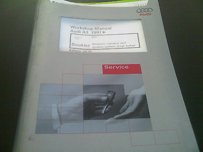 Audi A3 1997 onwards Workshop Manual motronic injection & ignition 4 cyl turbo